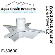Aqua Creek - Anchor Kit for EZ-2 - Power EZ-2 Wood Deck Applications # F-30600