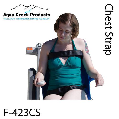 Aqua Creek - Chest Strap Option for All Lifts - Ambassador - Pro - Portable Pro - Patriot - Ranger - Admiral - Revolution - Scout - Titan - Ultra - Elite # F-423CS