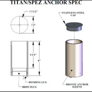 Aqua Creek - Anchor Kit for Titan 600 & Super Power EZ Lifts - Concrete Applications # F-612TLA