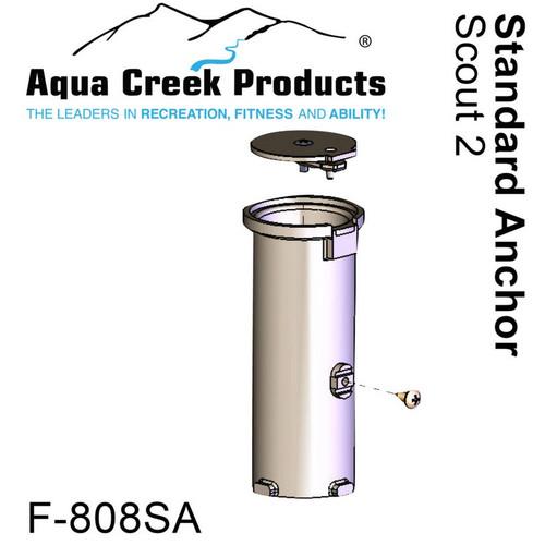 "Aqua Creek - Anchor for Scout Standard Concrete Applications - Bronze - 1.9"" ID x 6"" Long # F-808SA"
