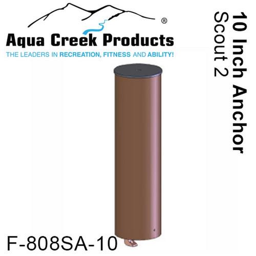 "Aqua Creek - Anchor for Scout Paver Applications - Bronze - 1.9"" ID x 10"" Long # F-808SA-10"