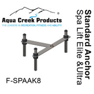 Aqua Creek - Anchor Kit for Spa Elite/Ultra Lifts - Concrete Applications # F-SPAAK8