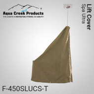 Aqua Creek - Lift Cover for Spa Ultra, Standard, (Tan) - F-450SLUCS-T - Can be used with Solar Charger