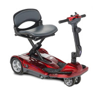 EV Rider - TranSport AF Plus S19AF Auto Fold Mobility Scooter - Burgundy Red
