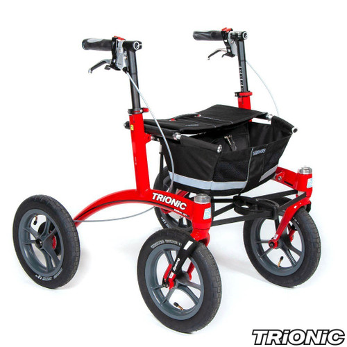 "Trionic Walkers - Outdoor Walker 12er - 12"" tires Small - Red/ Black/Gray"