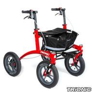 "Trionic Walkers - Outdoor Walker 12er - 12"" tires Small - Red/ Black/Gray"