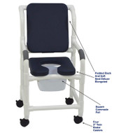 "MJM International - Shower Chair 18"" - # 118-3-SSDE-CBP-SQ-PAIL-AB"