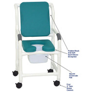 "MJM International - Shower Chair 18"" - # 118-3-SSDE-CBP-SQ-PAIL-OB"