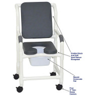 "MJM International - Shower Chair 18"" - # 118-3-SSDE-CBP-SQ-PAIL-PI"