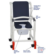 "MJM International - Shower Chair 18"" - # 118-3-SSDE-CBP-AB-SQ-PAIL-LSB-AT"