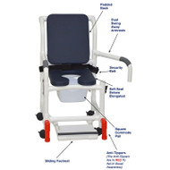 "MJM International - Shower Chair 18"" - # 118-3-SSDE-CBP-AB-DDA-SF-SQ-PAIL-BB-AT"