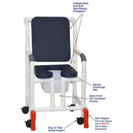 "MJM International - Shower Chair 18"" - # 118-3-SSDE-CBP-AB-OF-SQ-PAIL-AT"