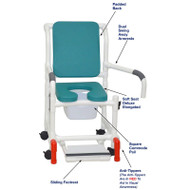 "MJM International - Shower Chair 18"" - # 118-3-SSDE-CBP-OB-DDA-SF-SQ-PAIL-AT"