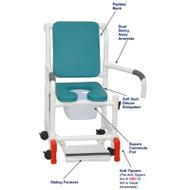 "MJM International - Shower Chair 18"" - # 118-3-SSDE-CBP-OB-DDA-SF-SQ-PAIL-AT"