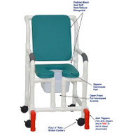 "MJM International - Shower Chair 18"" - # 118-3-SSDE-CBP-OB-OF-SQ-PAIL-AT"