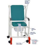 "MJM International - Shower Chair 18"" - # 118-3-SSDE-CBP-OB-OF-SQ-PAIL-AT"