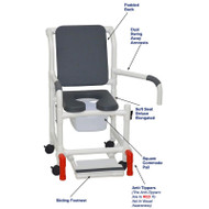 "MJM International - Shower Chair 18"" - # 118-3-SSDE-CBP-PI-DDA-SF-SQ-PAIL-AT"