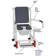 "MJM International - Shower Chair 18"" - # 118-3-SSDE-CBP-PI-DDA-SF-SQ-PAIL-AT"