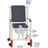"MJM International - Shower Chair 18"" - # 118-3-SSDE-CBP-PI-OF-SQ-PAIL-AT"