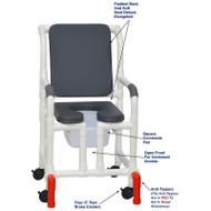 "MJM International - Shower Chair 18"" - # 118-3-SSDE-CBP-PI-OF-SQ-PAIL-AT"