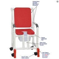 "MJM International - Shower Chair 18"" - # 118-3-SSDE-CBP-RD-OF-SQ-PAIL-AT"