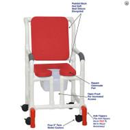 "MJM International - Shower Chair 18"" - # 118-3-SSDE-CBP-RD-OF-SQ-PAIL-AT"