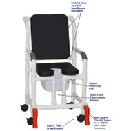 "MJM International - Shower Chair 18"" - # 118-3-SSDE-CBP-BLK-OF-SQ-PAIL-AT"