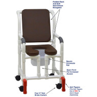 "MJM International - Shower Chair 18"" - # 118-3-SSDE-CBP-BRN-OF-SQ-PAIL-AT"