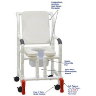 "MJM International - Shower Chair 18"" - # 118-3-SSDE-CBP-WH-OF-SQ-PAIL-AT"