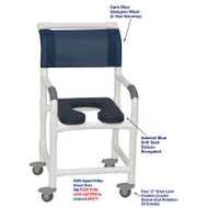 "MJM International - Shower Chair 18"" - # 118-3TL-SSDE-AB-DKBL-DM"