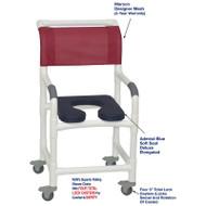 "MJM International - Shower Chair 18"" - # 118-3TL-SSDE-AB-MRN-DM"