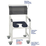 "MJM International - Shower Chair 18"" - # 118-3TL-SSDE-AB-NJGRY-DM"