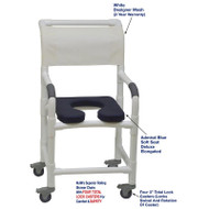 "MJM International - Shower Chair 18"" - # 118-3TL-SSDE-AB-WH-DM"