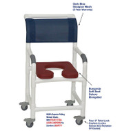 "MJM International - Shower Chair 18"" - # 118-3TL-SSDE-BG-DKBL-DM"