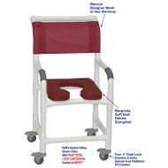 "MJM International - Shower Chair 18"" - # 118-3TL-SSDE-BG-MRN-DM"