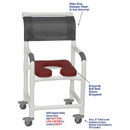 "MJM International - Shower Chair 18"" - # 118-3TL-SSDE-BG-NJGRY-DM"