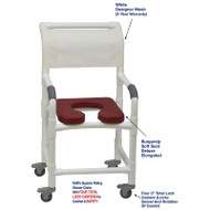 "MJM International - Shower Chair 18"" - # 118-3TL-SSDE-BG-WH-DM"