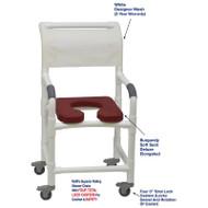 "MJM International - Shower Chair 18"" - # 118-3TL-SSDE-BG-WH-DM"