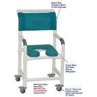 "MJM International - Shower Chair 18"" - # 118-3TL-SSDE-OB-MYNTL-DM"