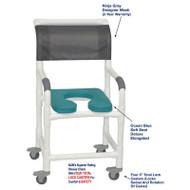 "MJM International - Shower Chair 18"" - # 118-3TL-SSDE-OB-NJGRY-DM"
