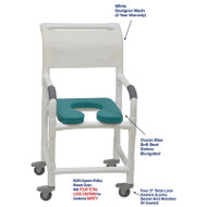 "MJM International - Shower Chair 18"" - # 118-3TL-SSDE-OB-WH-DM"