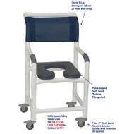 "MJM International - Shower Chair 18"" - # 118-3TL-SSDE-PI-DKBL-DM"