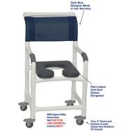 "MJM International - Shower Chair 18"" - # 118-3TL-SSDE-PI-DKBL-DM"