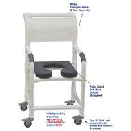 "MJM International - Shower Chair 18"" - # 118-3TL-SSDE-PI-WH-DM"