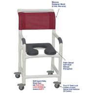 "MJM International - Shower Chair 18"" - # 118-3TL-SSDE-PI-MRN-DM"