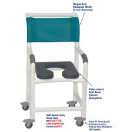 "MJM International - Shower Chair 18"" - # 118-3TL-SSDE-PI-MYNTL-DM"