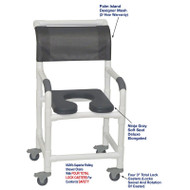 "MJM International - Shower Chair 18"" - # 118-3TL-SSDE-PI-NJGRY-DM"
