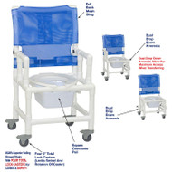 "MJM International - Shower Chair 18"" - # 118-3TL-DDA-DD-SQ-PAIL"
