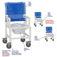 "MJM International - Shower Chair 18"" - # 118-5TL-DDA-DD-SQ-PAIL"