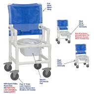 "MJM International - Shower Chair 18"" - # 118-5TL-DDA-DD-SQ-PAIL"